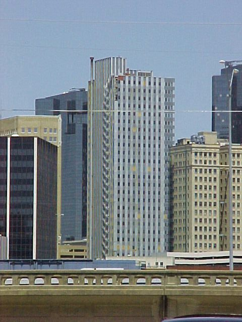 Landmark Tower Architecture In Downtown Fort Worth
