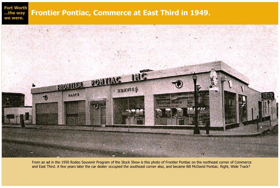 College Station Car Dealerships >> Frontier Pontiac - 1949