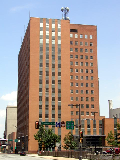 Oncor Building Architecture In Downtown Fort Worth